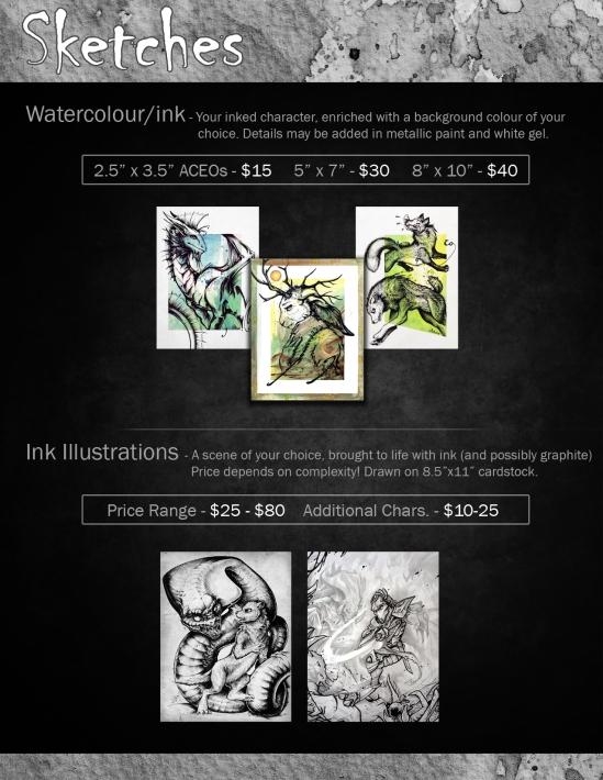 Dragonstorm Studios Commissions - Sketches