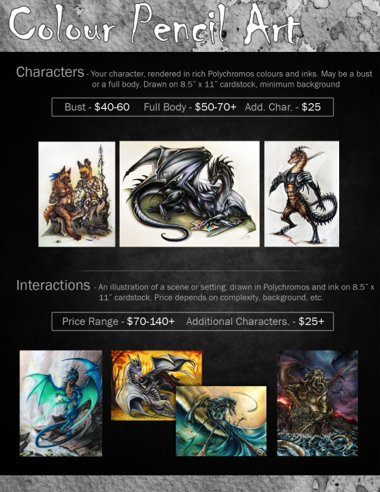 Dragonstorm Studios Commissions: Colour Pencil Art