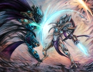 Tassadar and Zeratul combatant - Starcraft