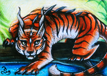 Tiger Dragon ACEO