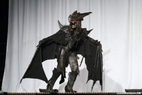 Honourary Mention for Motion and Mechanics, Artisan Division, Anime North's Masquerade, 2013 Costume made of craft foam and hot glue, wings of a polyester cloth.