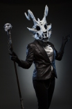 Own design, skull made of foam and hot glue.