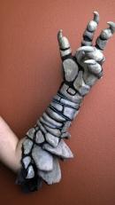 Apoxie sculpt, EL wire, hot glue and craft foam