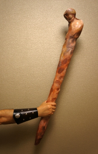 "This club is specially crafted out of foam and coated in latex - it is LARP quality. It is 38"" tall, and is Gold Grade."