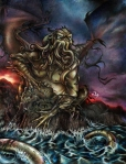 Cthulhu rises from the sea to wreck havoc!